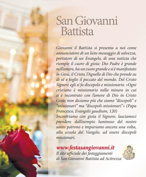 Solenni Festeggiamenti in onore di San Giovanni Battista Patrono di Acitrezza Programma 2014_02