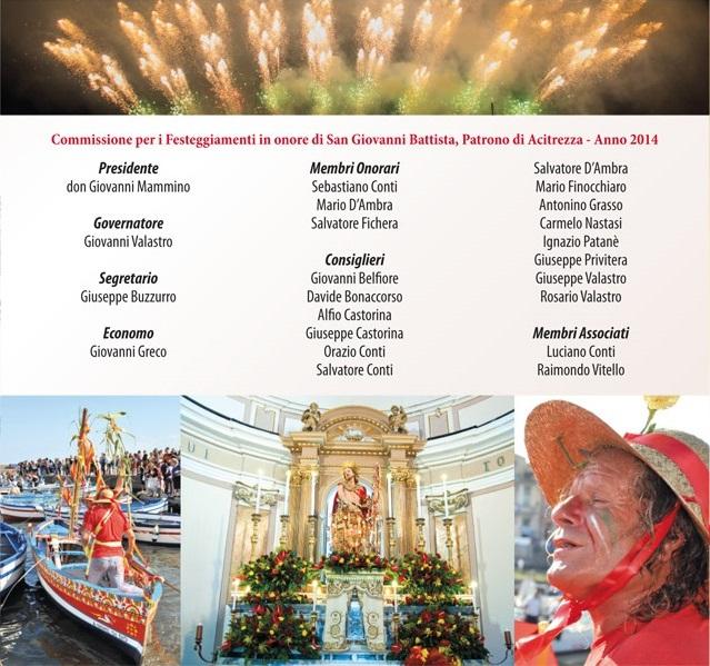 Solenni Festeggiamenti in onore di San Giovanni Battista Patrono di Acitrezza Programma 2014_07