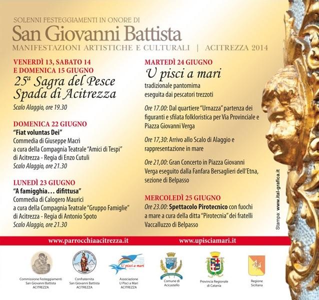 Solenni Festeggiamenti in onore di San Giovanni Battista Patrono di Acitrezza Programma 2014_08