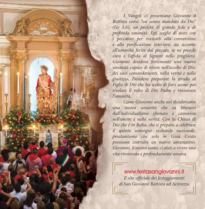 Solenni Festeggiamenti in onore di San Giovanni Battista Patrono di Acitrezza Programma 2015_02