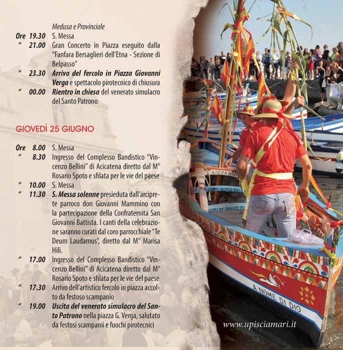 Solenni Festeggiamenti in onore di San Giovanni Battista Patrono di Acitrezza Programma 2015_05