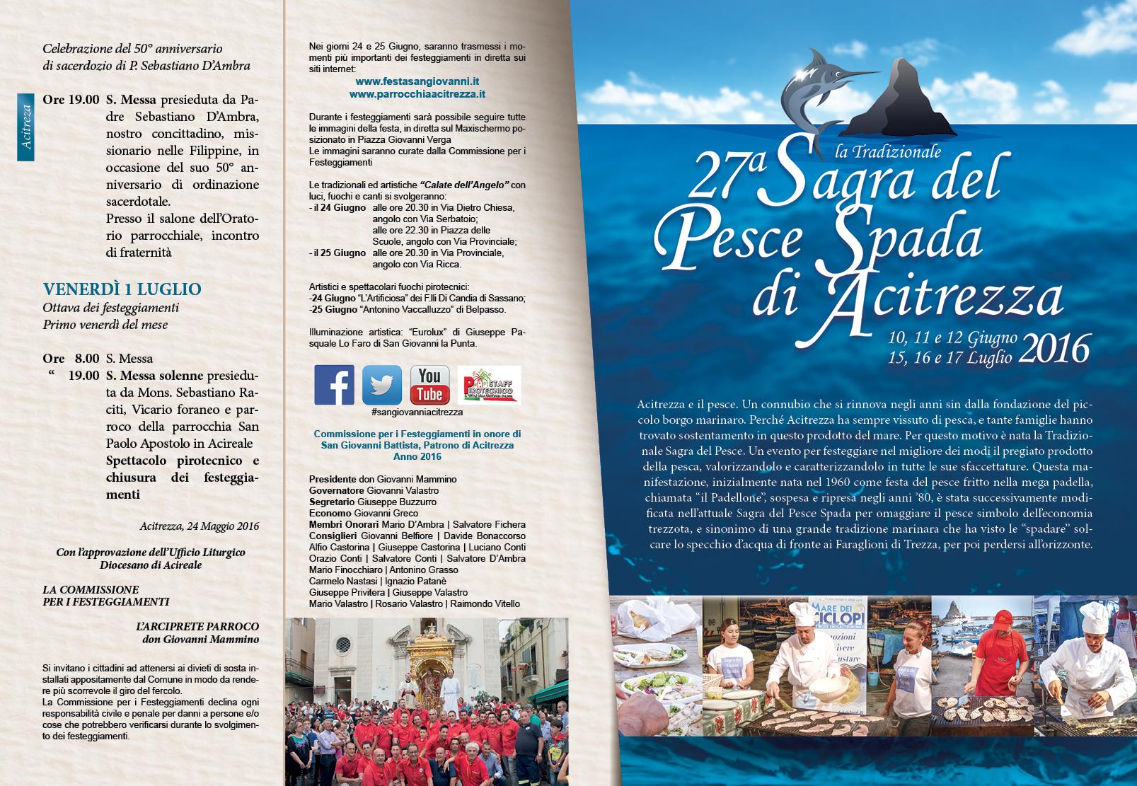 Solenni Festeggiamenti in onore di San Giovanni Battista Patrono di Acitrezza Programma 2016_05